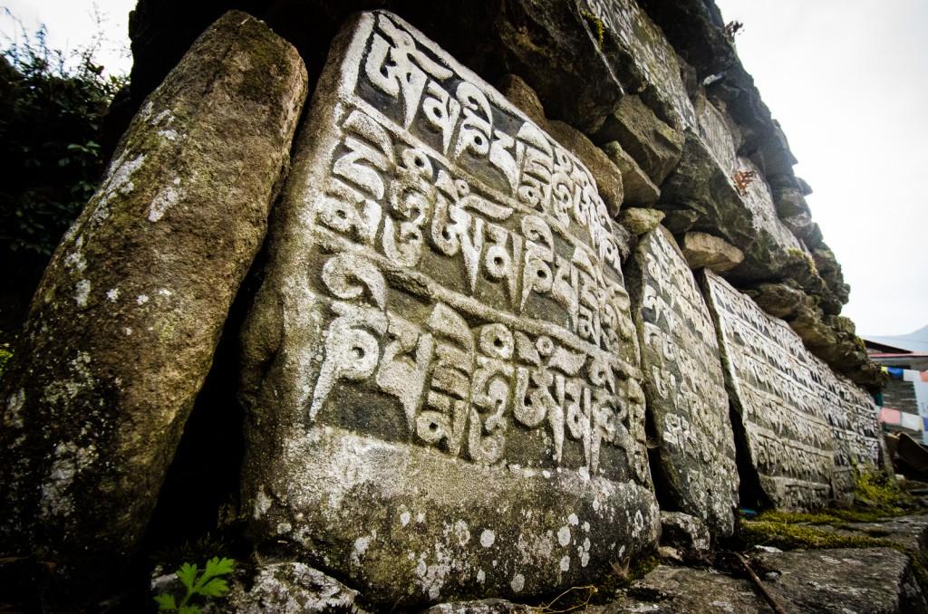 Mani Stones in Lukla