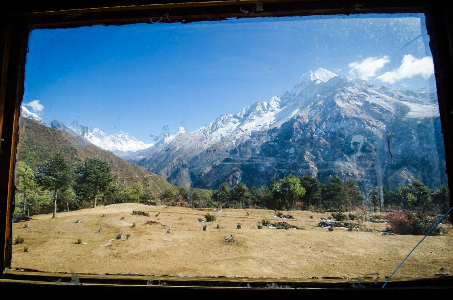 View from the Namche Bazaar Museum Window