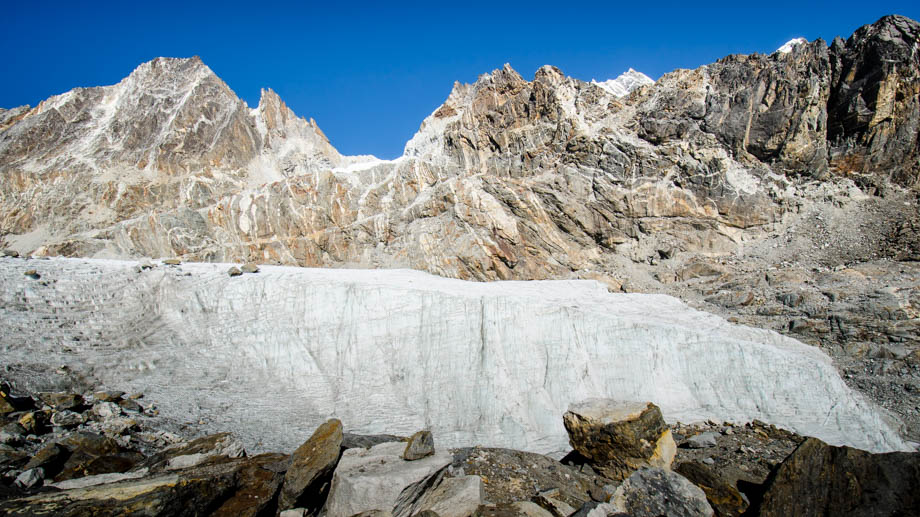 The terminus of the Cho La glacier