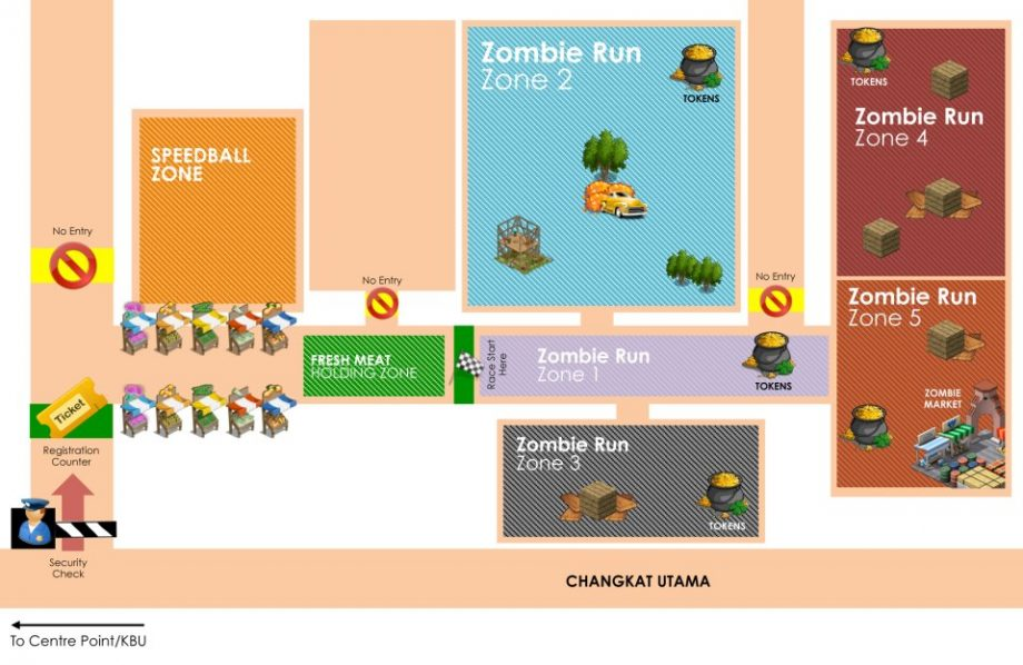 Zombie Run Layout