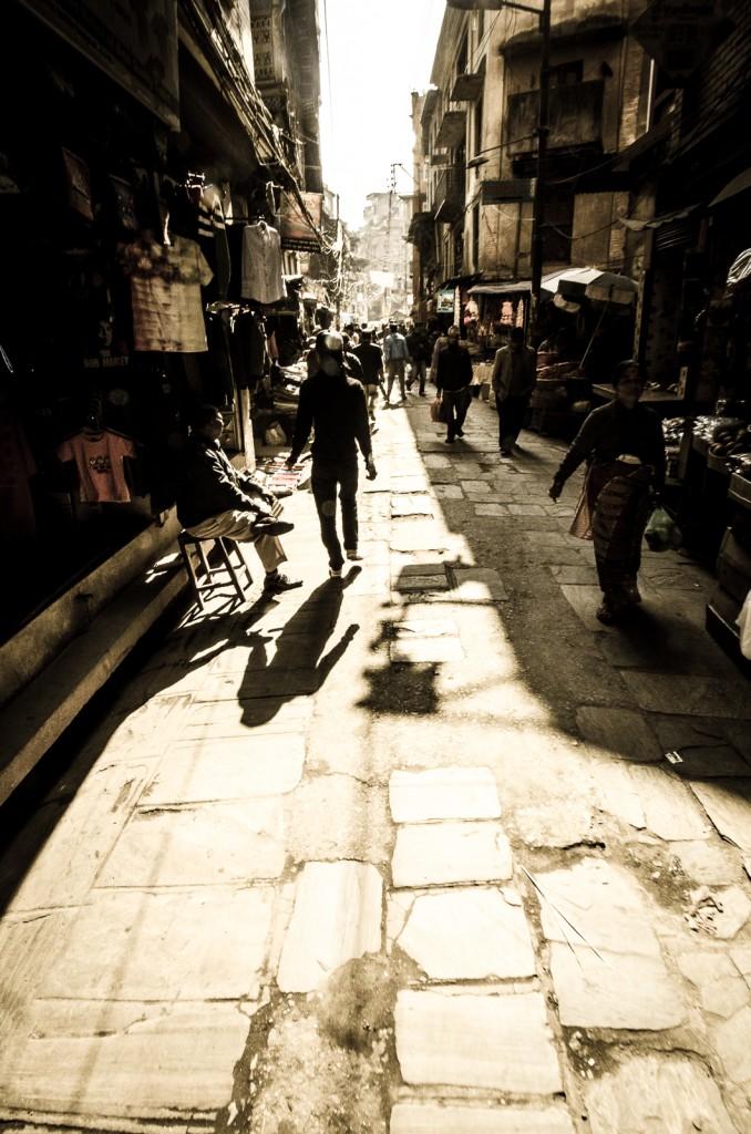 Kathmandhu Streets in Monochrome