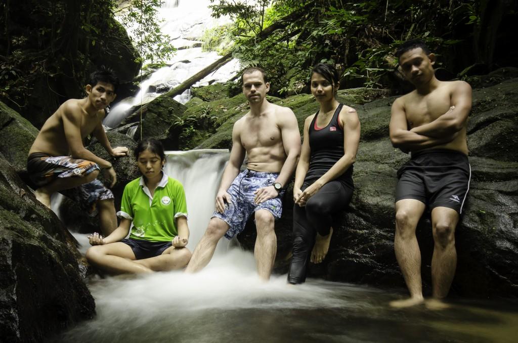 Waterfall Posing