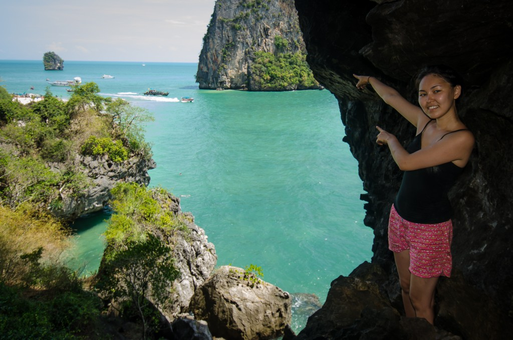 Thaiwand Wall Cave Opening to Railay East