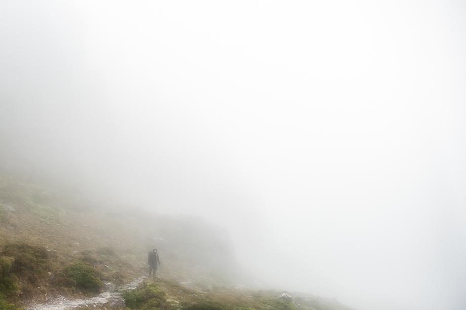 Whiteout to Lake Oberon