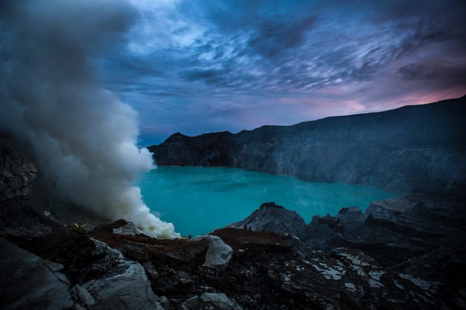 Sunrise at Ijen Crater