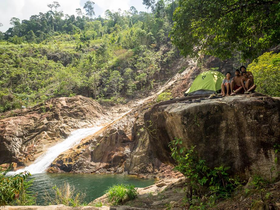 Campsite at Berkelah Waterfall