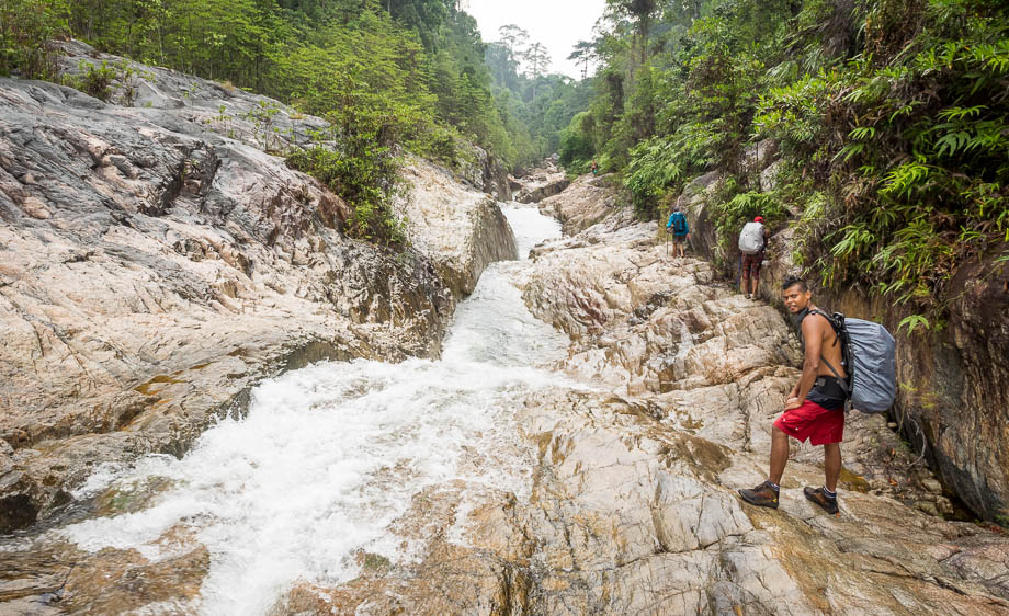 Hiking to Berkelah Waterfall