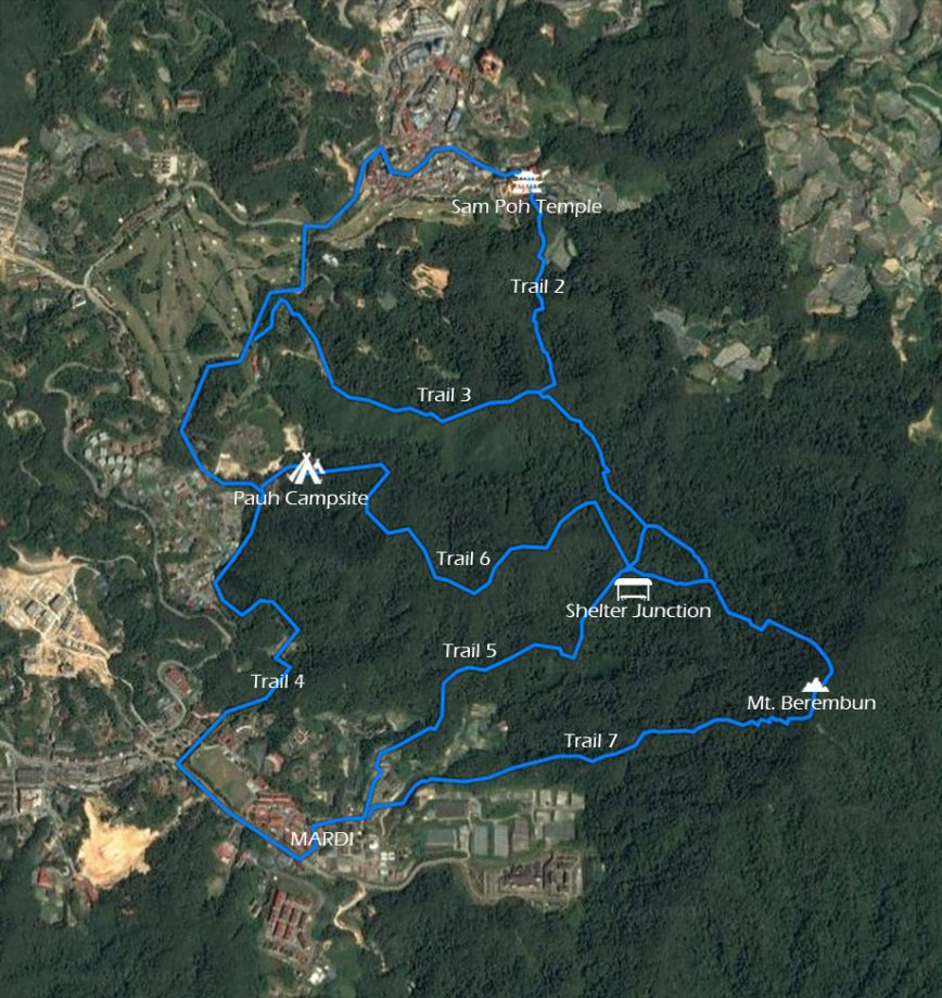 Berembun Trail Map