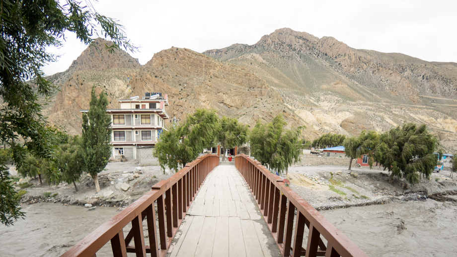 Bridge into Jomsom
