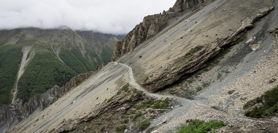 landslide-prone area