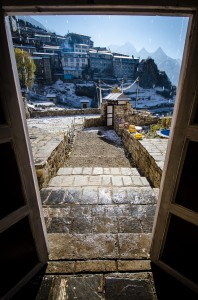 Doorway to Namche Bazaar