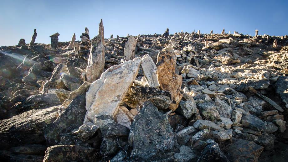Gokyo Ri's cairns