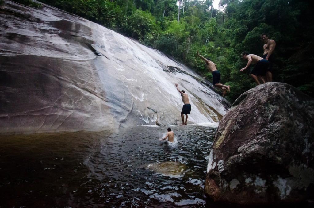 Stong Waterfall Jump