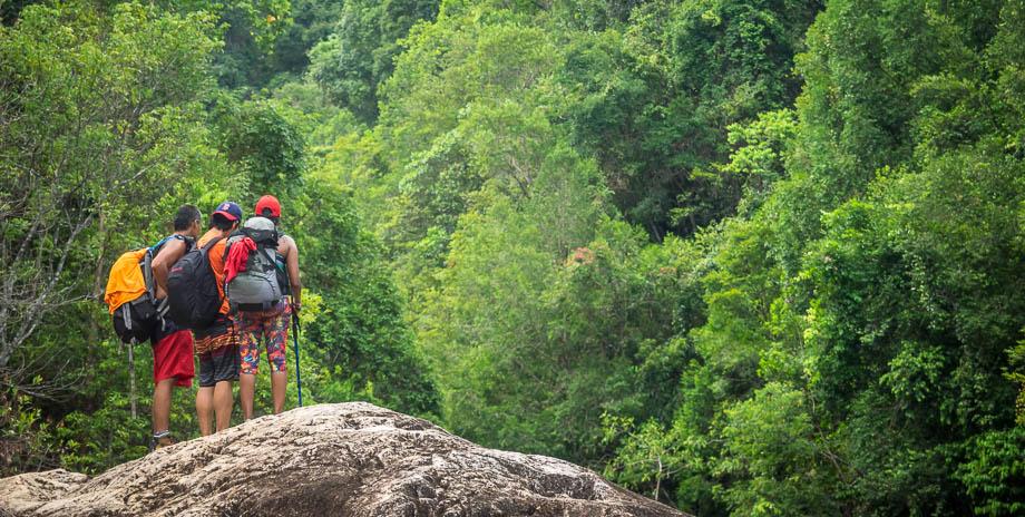 Hiking to Berkelah Waterfall