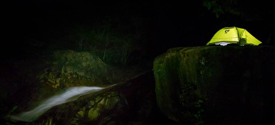 Campsite at Night at Berkelah Waterfall