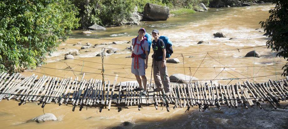 The old bamboo bridge of Tok Nenek