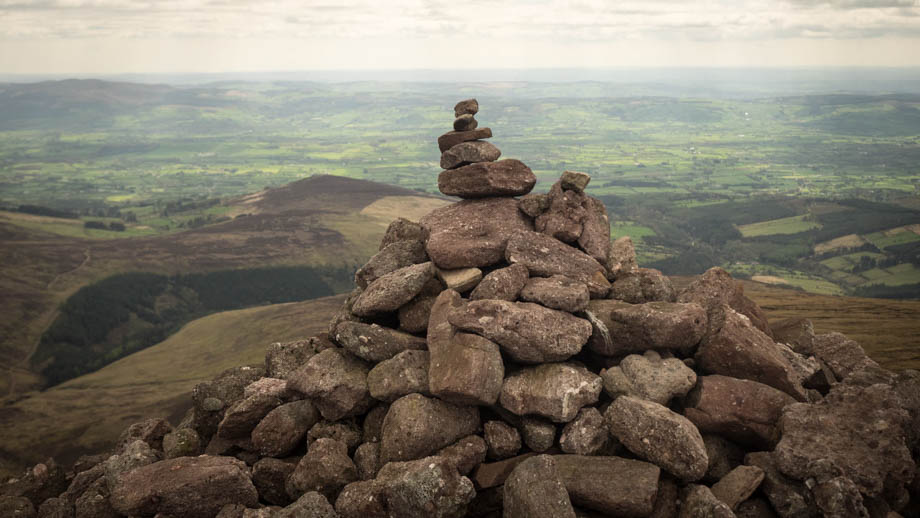 A summit cairn