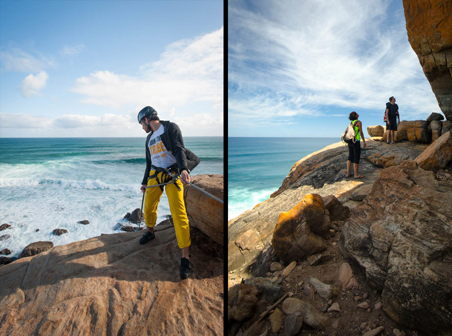 Checking out the wilyabrup cliffs