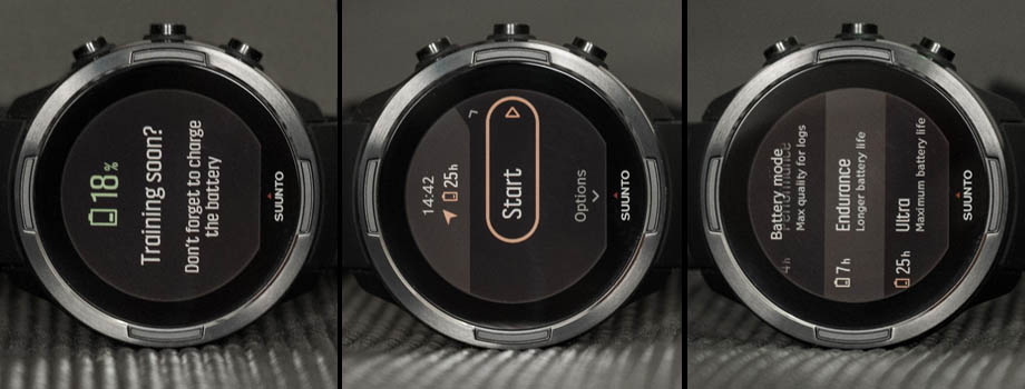 Suunto 9 power modes