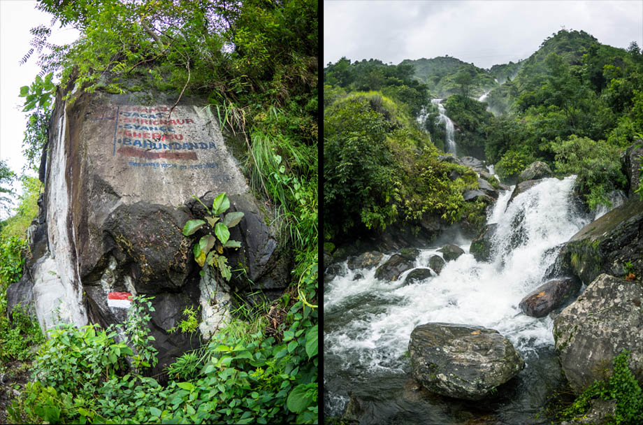 waterfalls on the way to srichaur