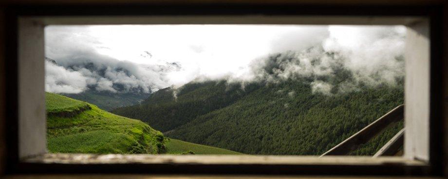 Toilet window view