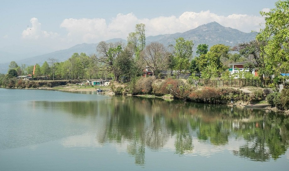 Phewa Lake from Damside Park